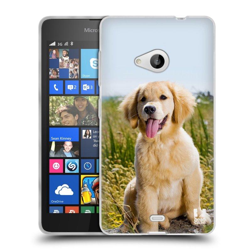 Silikonové pouzdro na mobil Microsoft Lumia 535 HEAD CASE RETRÍVR (Silikonový kryt či obal na mobilní telefon Microsoft Lumia 535)