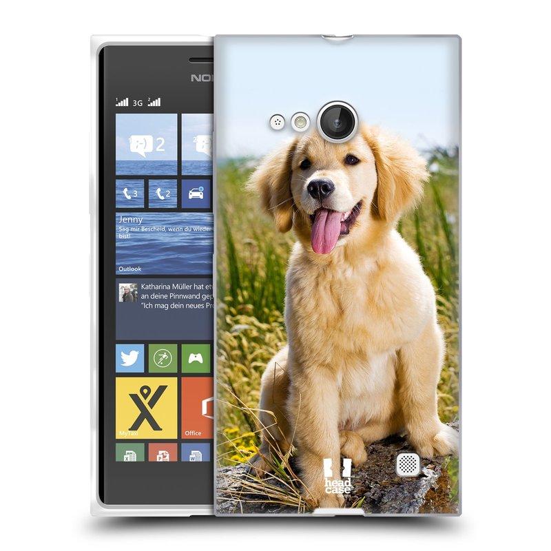 Silikonové pouzdro na mobil Nokia Lumia 735 HEAD CASE RETRÍVR (Silikonový kryt či obal na mobilní telefon Nokia Lumia 735)