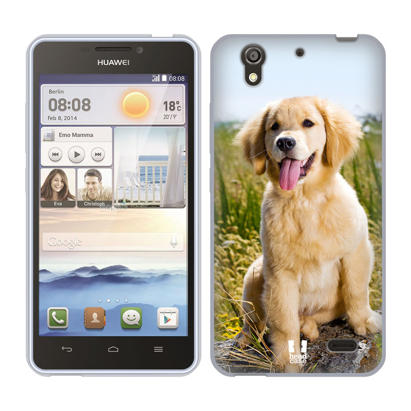 Silikonové pouzdro na mobil Huawei Ascend Y530 HEAD CASE RETRÍVR (Silikonový kryt či obal na mobilní telefon Huawei Ascend Y530)