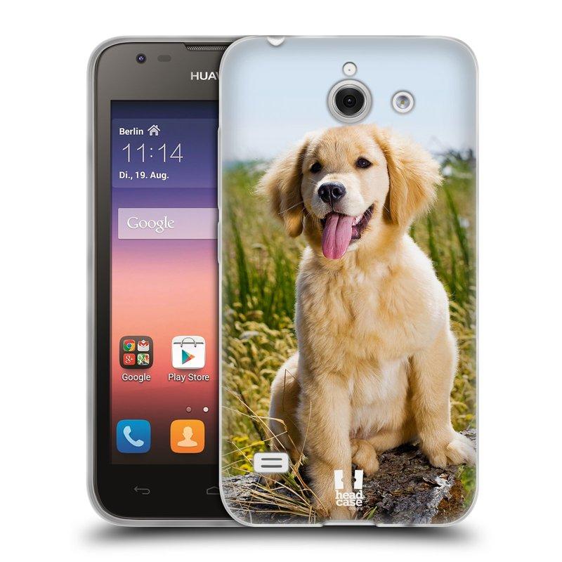 Silikonové pouzdro na mobil Huawei Ascend Y550 HEAD CASE RETRÍVR (Silikonový kryt či obal na mobilní telefon Huawei Ascend Y550)