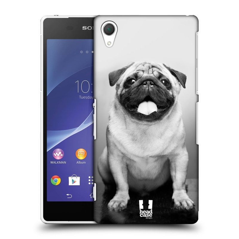 Plastové pouzdro na mobil Sony Xperia Z2 D6503 HEAD CASE MOPSÍK (Kryt či obal na mobilní telefon Sony Xperia Z2 )