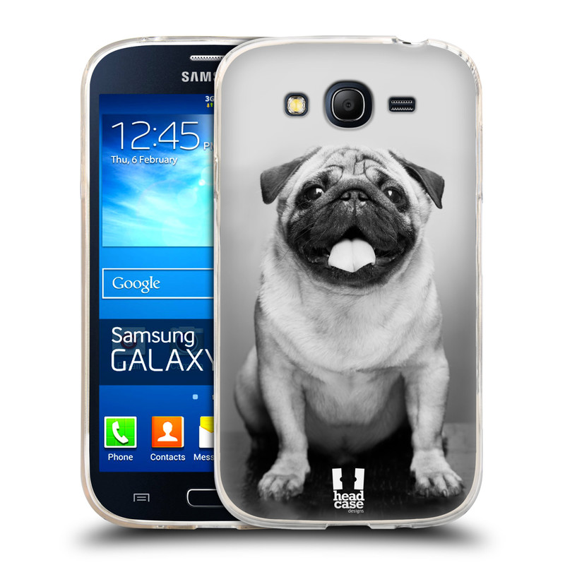 Silikonové pouzdro na mobil Samsung Galaxy Grand Neo Plus HEAD CASE MOPSÍK (Silikonový kryt či obal na mobilní telefon Samsung Galaxy Grand Neo Plus Duos GT-I9060i)