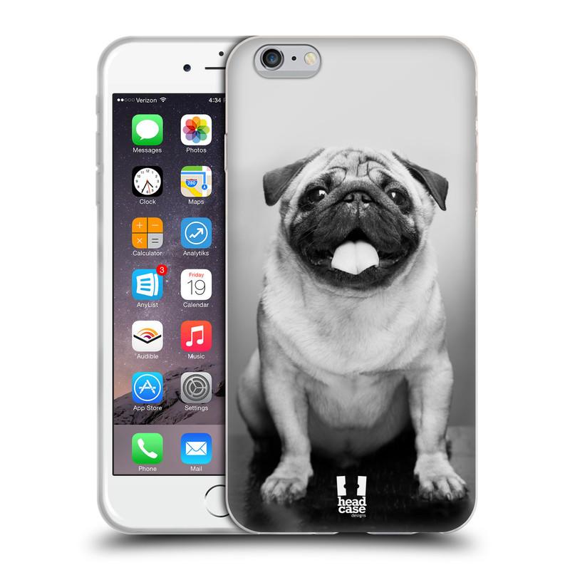 Silikonové pouzdro na mobil Apple iPhone 6 Plus a 6S Plus HEAD CASE MOPSÍK (Silikonový kryt či obal na mobilní telefon Apple iPhone 6 Plus a 6S Plus)
