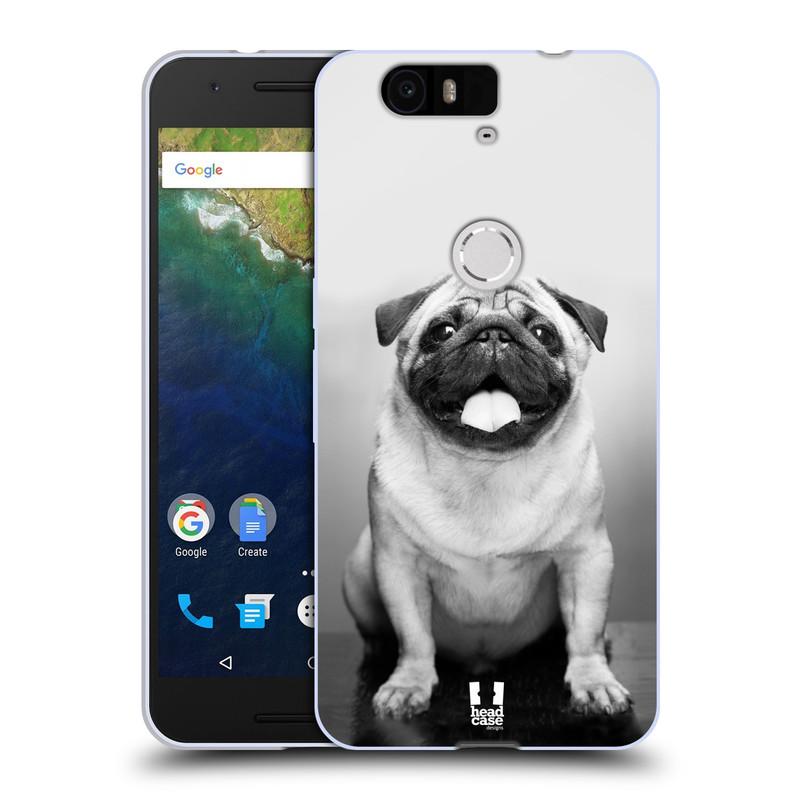 Silikonové pouzdro na mobil Huawei Nexus 6P HEAD CASE MOPSÍK (Silikonový kryt či obal na mobilní telefon Huawei Nexus 6P)