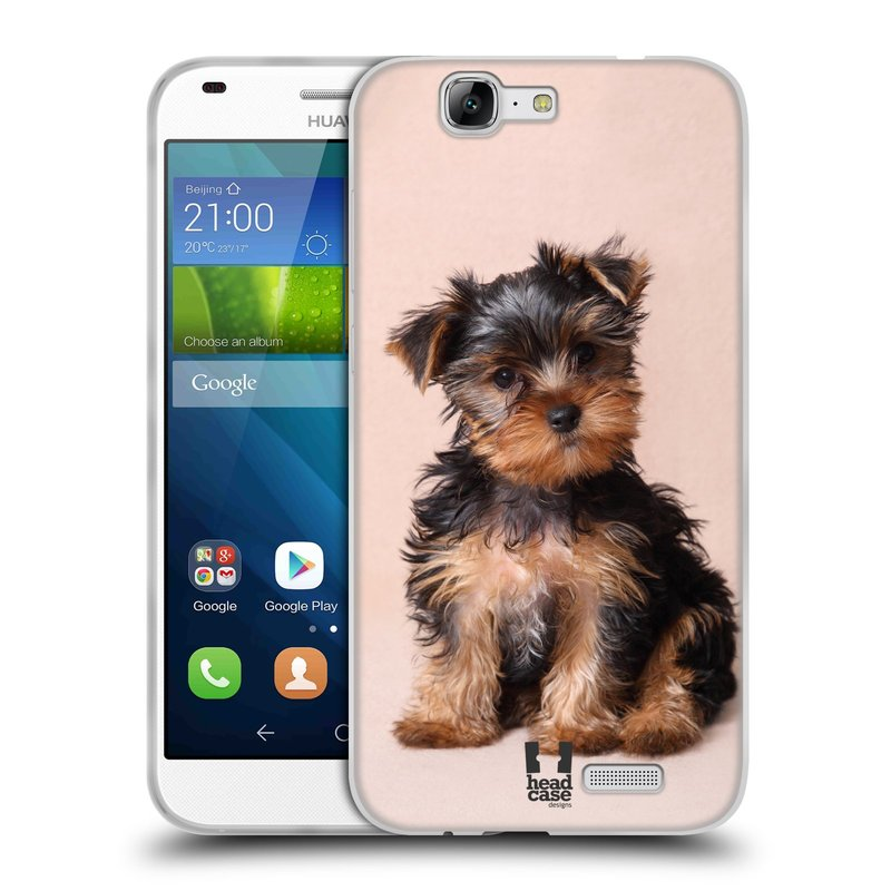 Silikonové pouzdro na mobil Huawei Ascend G7 HEAD CASE YORKŠÍR (Silikonový kryt či obal na mobilní telefon Huawei Ascend G7)