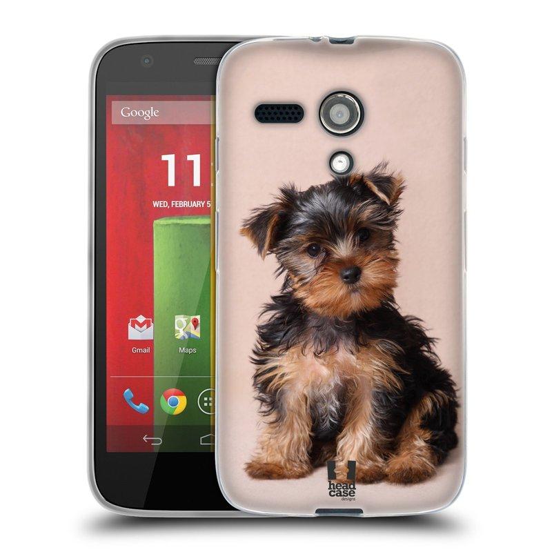 Silikonové pouzdro na mobil Motorola Moto G HEAD CASE YORKŠÍR (Silikonový kryt či obal na mobilní telefon Motorola Moto G)