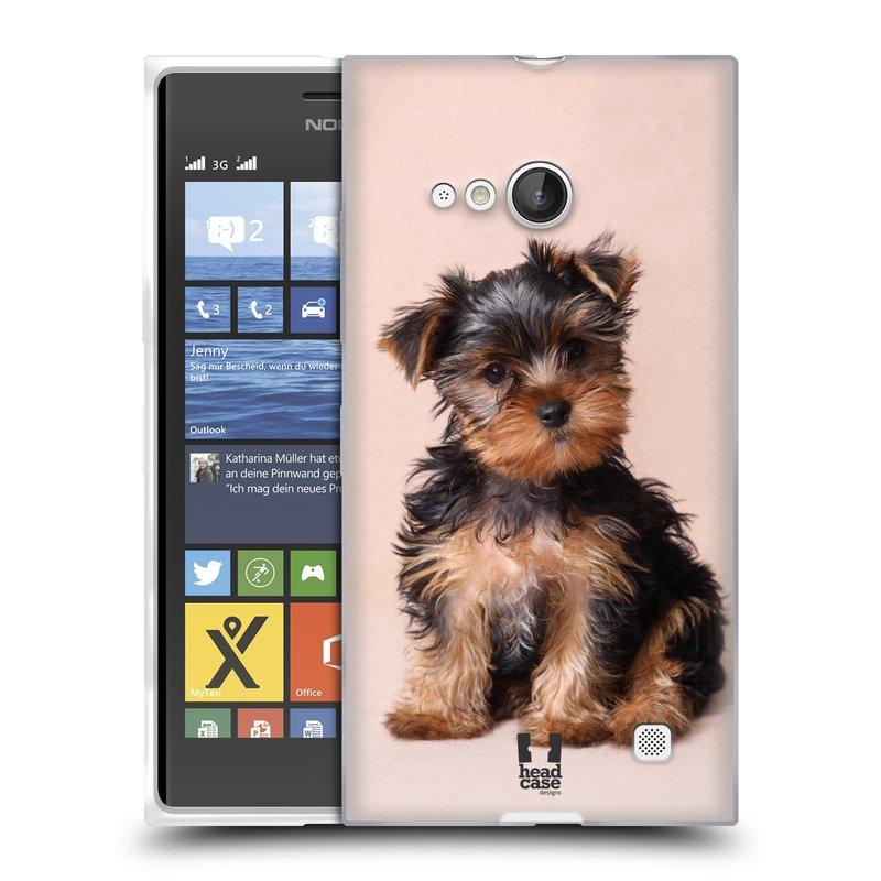 Silikonové pouzdro na mobil Nokia Lumia 735 HEAD CASE YORKŠÍR (Silikonový kryt či obal na mobilní telefon Nokia Lumia 735)