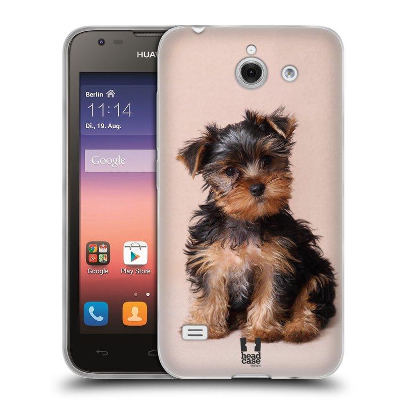 Silikonové pouzdro na mobil Huawei Ascend Y550 HEAD CASE YORKŠÍR (Silikonový kryt či obal na mobilní telefon Huawei Ascend Y550)