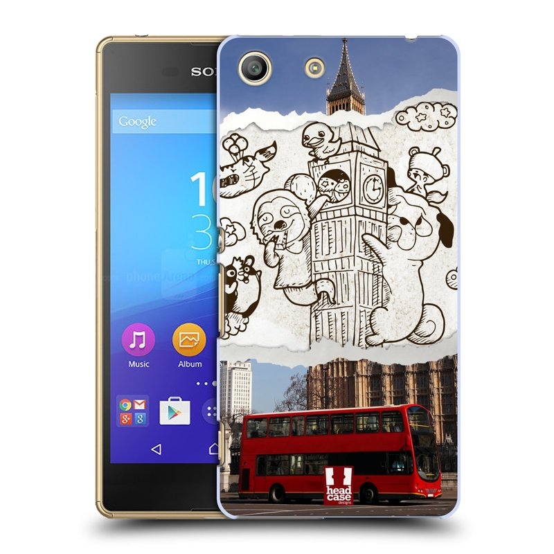 Plastové pouzdro na mobil Sony Xperia M5 HEAD CASE DOODLE TRIP LONDÝN (Kryt či obal na mobilní telefon Sony Xperia M5 Aqua)