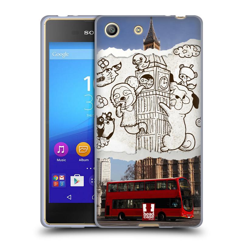 Silikonové pouzdro na mobil Sony Xperia M5 HEAD CASE DOODLE TRIP LONDÝN (Silikonový kryt či obal na mobilní telefon Sony Xperia M5 Dual SIM / Aqua)