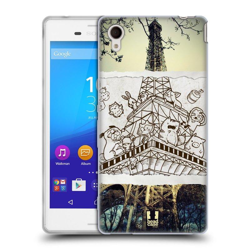 Silikonové pouzdro na mobil Sony Xperia M4 Aqua E2303 HEAD CASE DOODLE TRIP PAŘÍŽ (Silikonový kryt či obal na mobilní telefon Sony Xperia M4 Aqua a M4 Aqua Dual SIM)