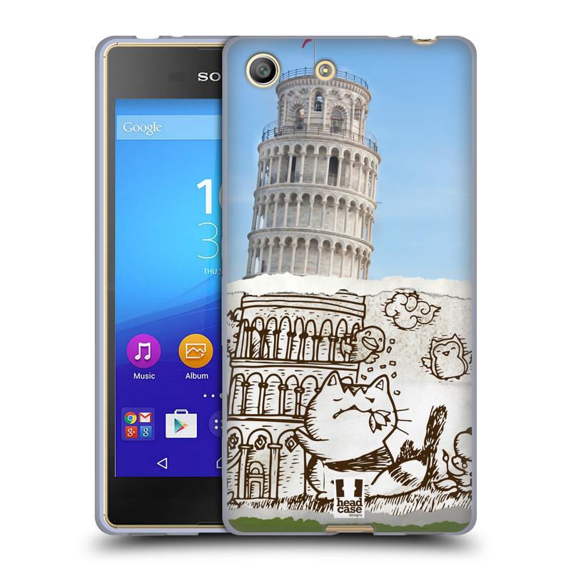 Silikonové pouzdro na mobil Sony Xperia M5 HEAD CASE DOODLE TRIP PISA (Silikonový kryt či obal na mobilní telefon Sony Xperia M5 Dual SIM / Aqua)