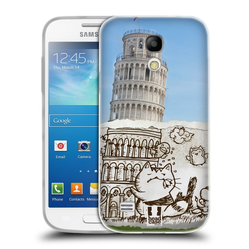 Silikonové pouzdro na mobil Samsung Galaxy S4 Mini VE HEAD CASE DOODLE TRIP PISA (Silikonový kryt či obal na mobilní telefon Samsung Galaxy S4 Mini VE GT-i9195i (nepasuje na verzi Black Edition))
