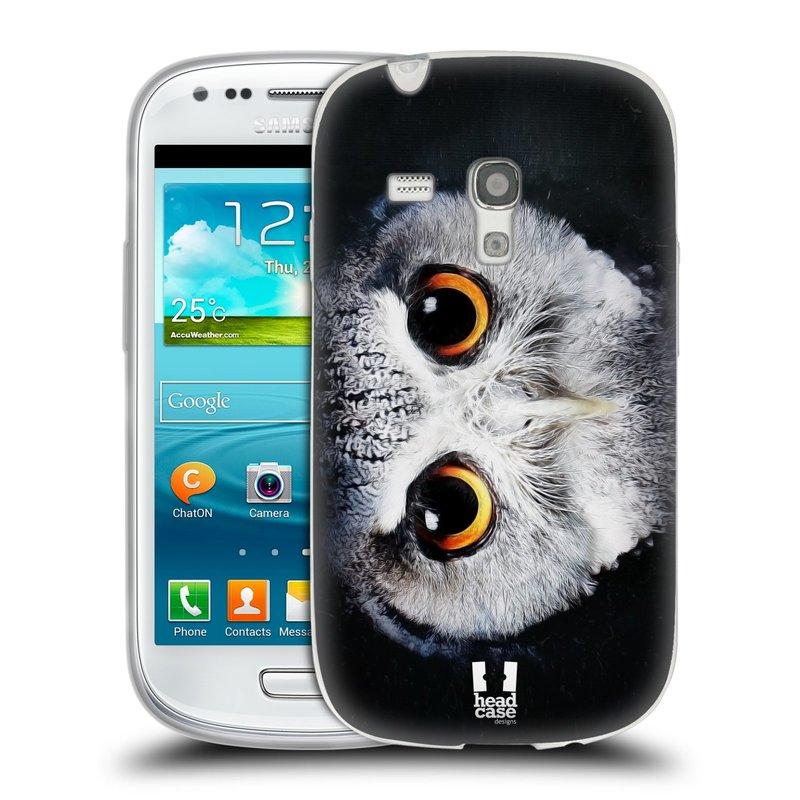 Silikonové pouzdro na mobil Samsung Galaxy S3 Mini VE HEAD CASE TVÁŘ SOVA (Silikonový kryt či obal na mobilní telefon Samsung Galaxy S3 Mini VE GT-i8200)