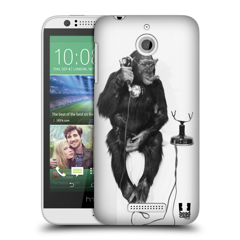 Plastové pouzdro na mobil HTC Desire 510 HEAD CASE OPIČÁK S TELEFONEM (Kryt či obal na mobilní telefon HTC Desire 510)