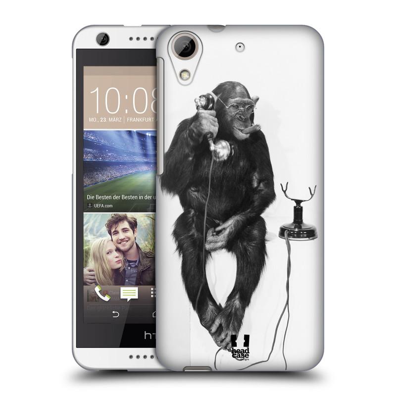 Plastové pouzdro na mobil HTC Desire 626 / 626G HEAD CASE OPIČÁK S TELEFONEM (Kryt či obal na mobilní telefon HTC Desire 626G Dual SIM a HTC Desire 626)