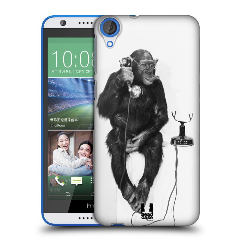Plastové pouzdro na mobil HTC Desire 820 HEAD CASE OPIČÁK S TELEFONEM (Kryt či obal na mobilní telefon HTC Desire 820)