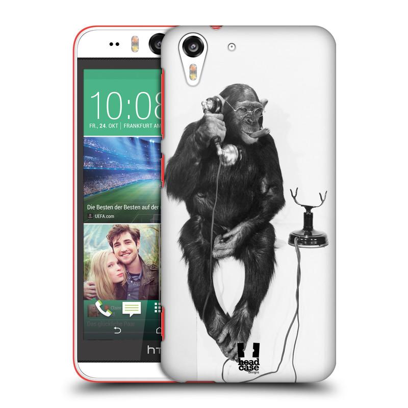 Plastové pouzdro na mobil HTC Desire EYE HEAD CASE OPIČÁK S TELEFONEM (Kryt či obal na mobilní telefon HTC Desire EYE)