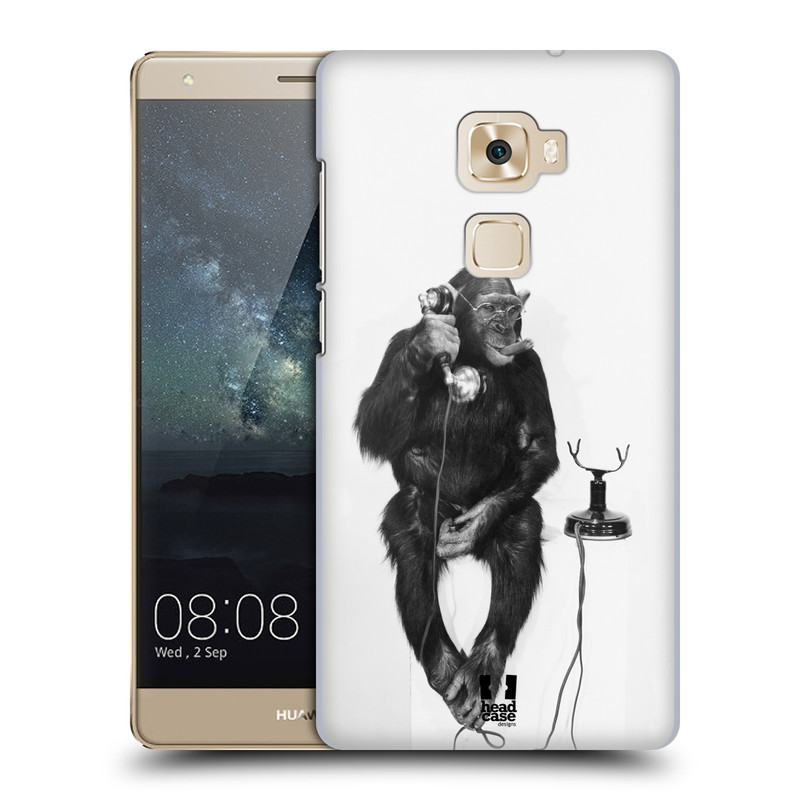 Plastové pouzdro na mobil Huawei Mate S HEAD CASE OPIČÁK S TELEFONEM (Plastový kryt či obal na mobilní telefon Huawei Mate S)