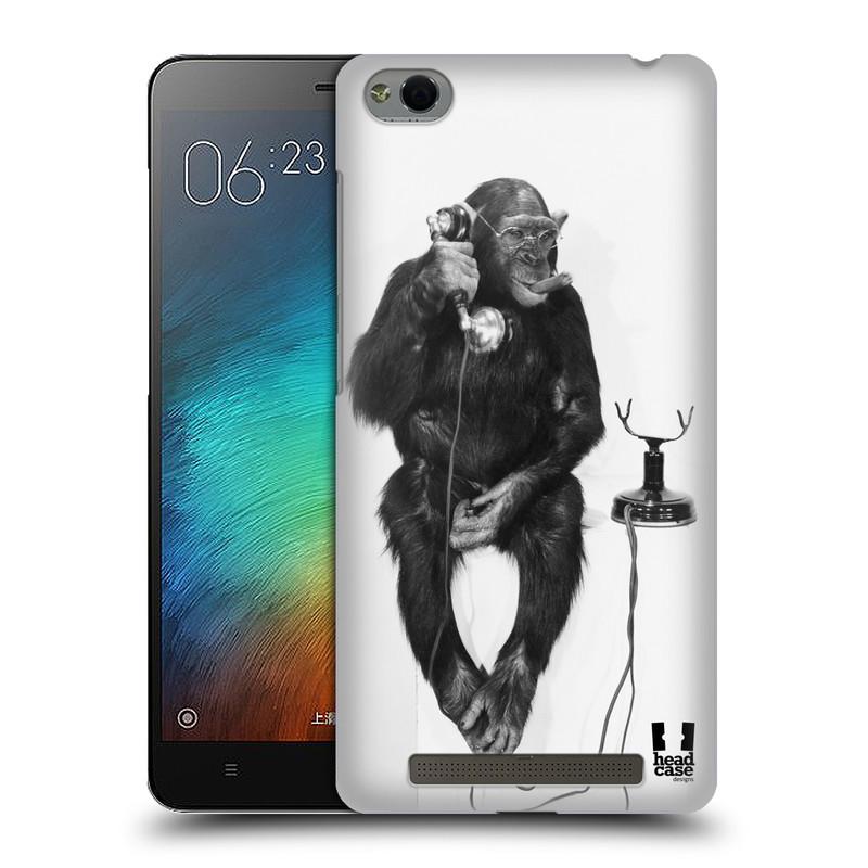 Plastové pouzdro na mobil Xiaomi Redmi 3 HEAD CASE OPIČÁK S TELEFONEM (Kryt či obal na mobilní telefon Xiaomi Redmi 3)