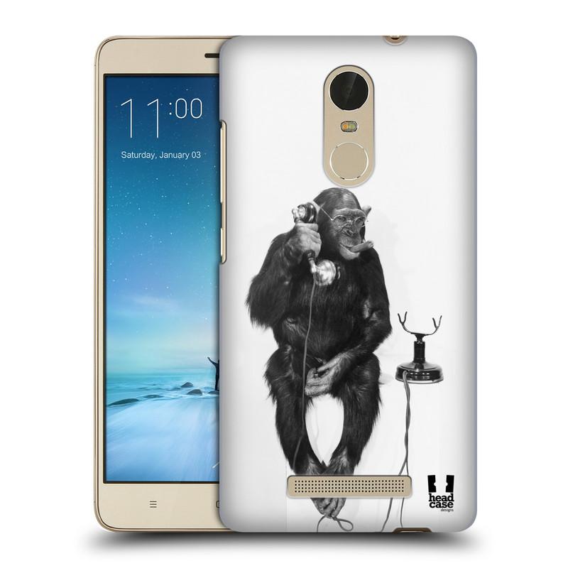 "Plastové pouzdro na mobil Xiaomi Redmi Note 3 HEAD CASE OPIČÁK S TELEFONEM (Kryt či obal na mobilní telefon Xiaomi Redmi Note 3 s 5,5"" displejem)"