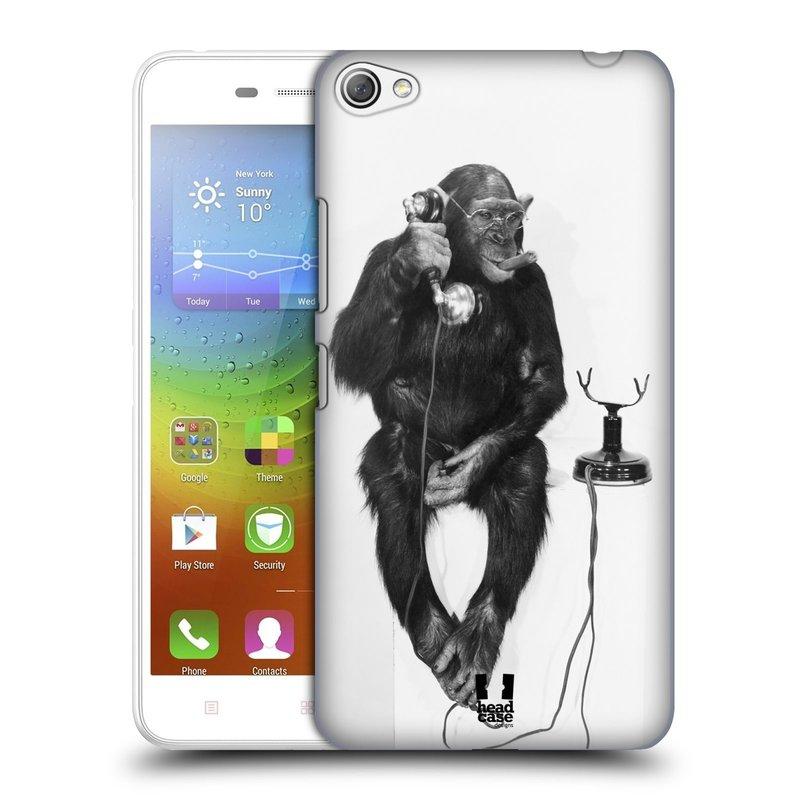 Plastové pouzdro na mobil Lenovo S60 HEAD CASE OPIČÁK S TELEFONEM (Kryt či obal na mobilní telefon Lenovo S60)
