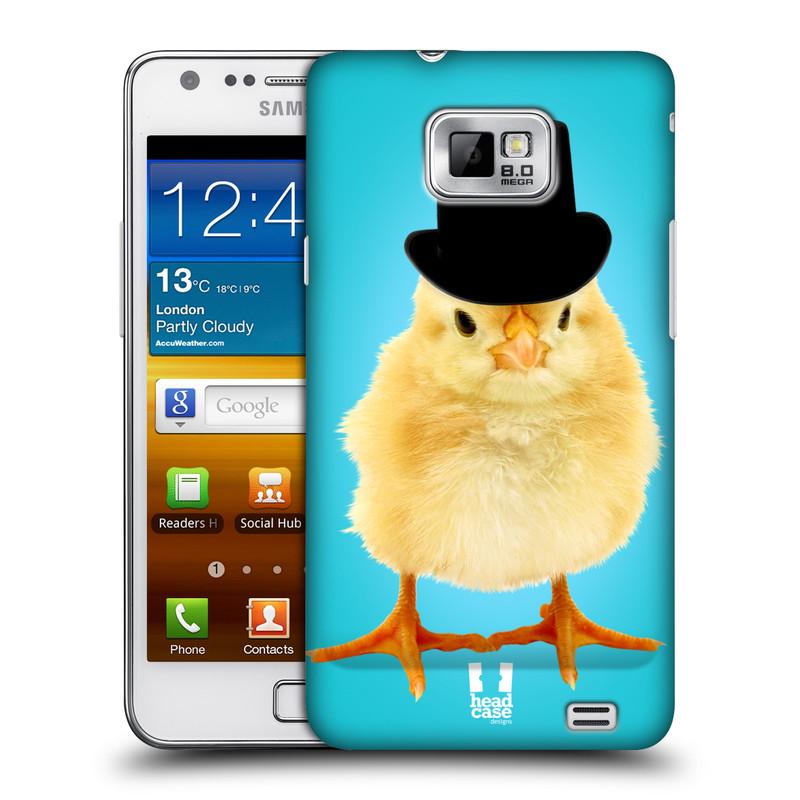 Plastové pouzdro na mobil Samsung Galaxy S II HEAD CASE KUŘE S KLÓBRCEM (Kryt či obal na mobilní telefon Samsung Galaxy S II GT-i9100)