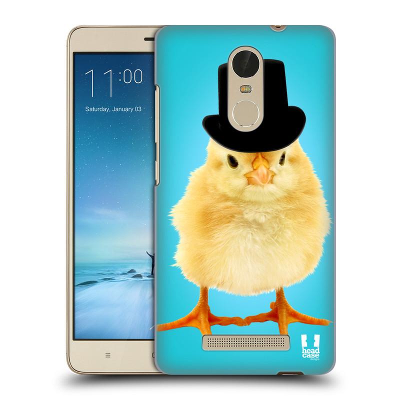 """Plastové pouzdro na mobil Xiaomi Redmi Note 3 HEAD CASE KUŘE S KLÓBRCEM (Kryt či obal na mobilní telefon Xiaomi Redmi Note 3 s 5,5"""" displejem)"""