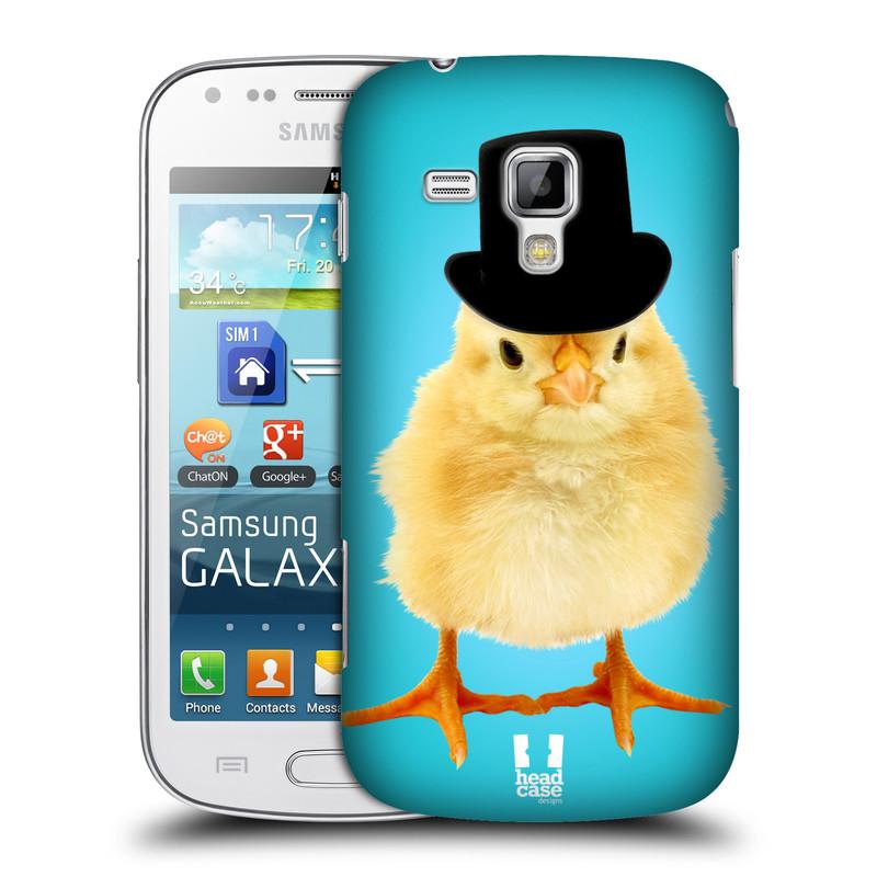Plastové pouzdro na mobil Samsung Galaxy S Duos HEAD CASE KUŘE S KLÓBRCEM (Kryt či obal na mobilní telefon Samsung Galaxy S Duos GT-S7562)