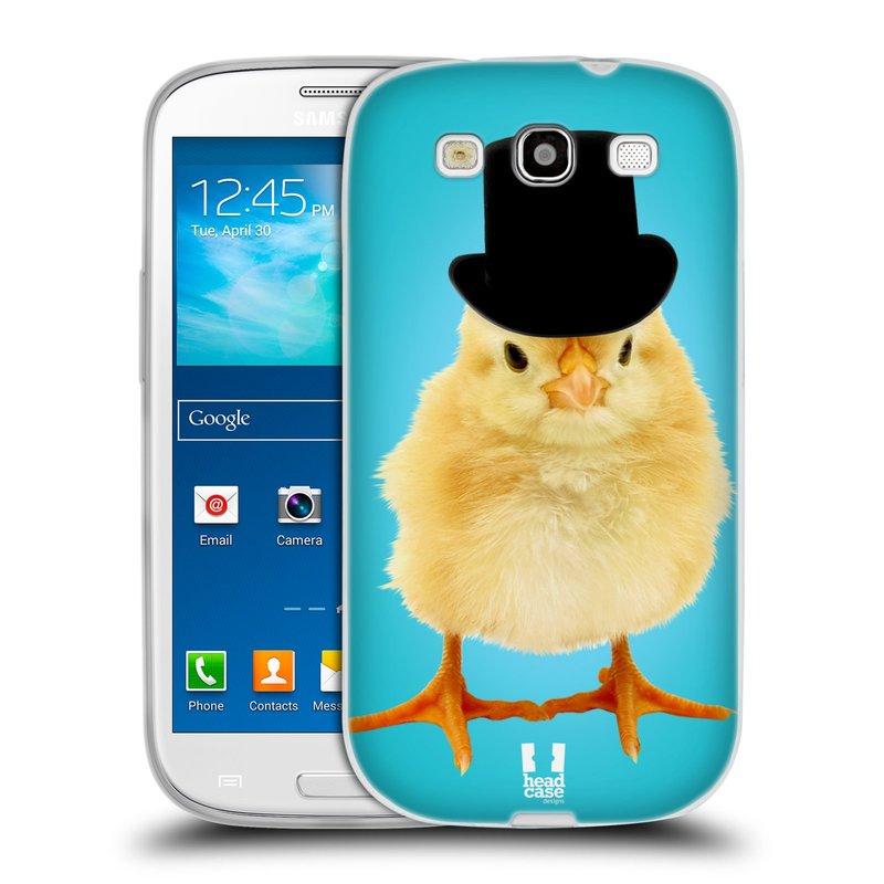 Silikonové pouzdro na mobil Samsung Galaxy S III HEAD CASE KUŘE S KLÓBRCEM (Silikonový kryt či obal na mobilní telefon Samsung Galaxy S III GT-i9300)