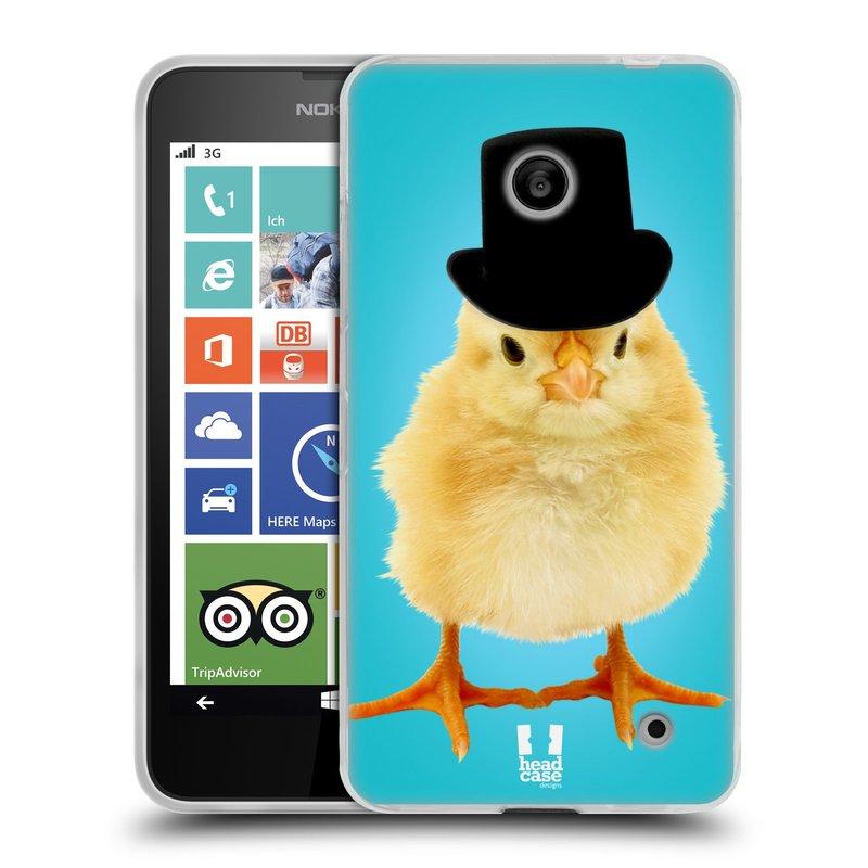 Silikonové pouzdro na mobil Nokia Lumia 630 HEAD CASE KUŘE S KLÓBRCEM (Silikonový kryt či obal na mobilní telefon Nokia Lumia 630 a Nokia Lumia 630 Dual SIM)