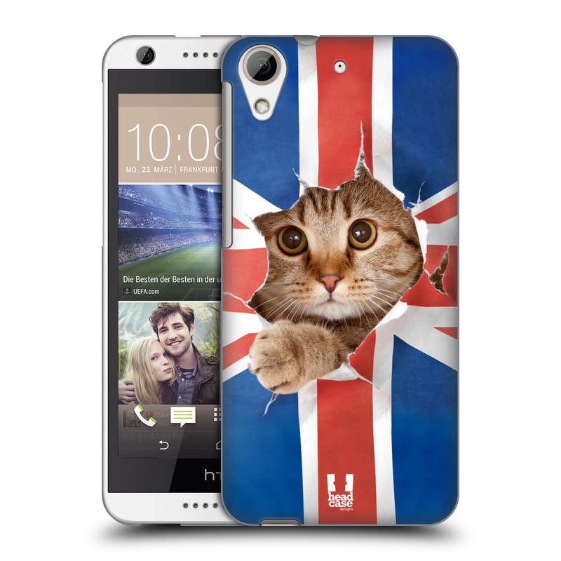 Plastové pouzdro na mobil HTC Desire 626 / 626G HEAD CASE KOČKA A VLAJKA (Kryt či obal na mobilní telefon HTC Desire 626G Dual SIM a HTC Desire 626)