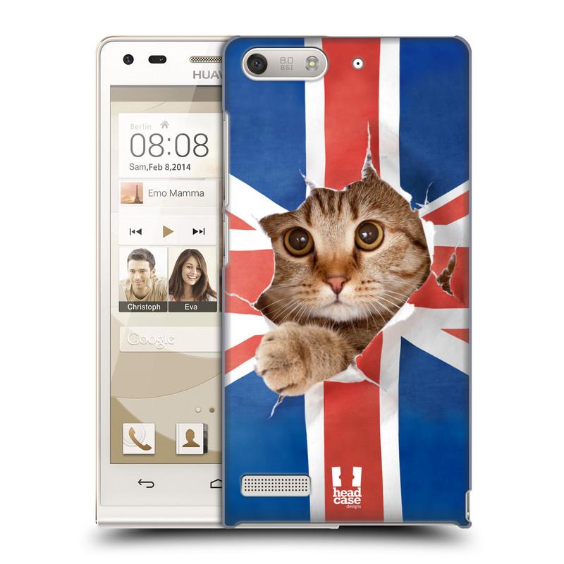 Plastové pouzdro na mobil Huawei Ascend G6 HEAD CASE KOČKA A VLAJKA (Kryt či obal na mobilní telefon Huawei Ascend G6 bez LTE)
