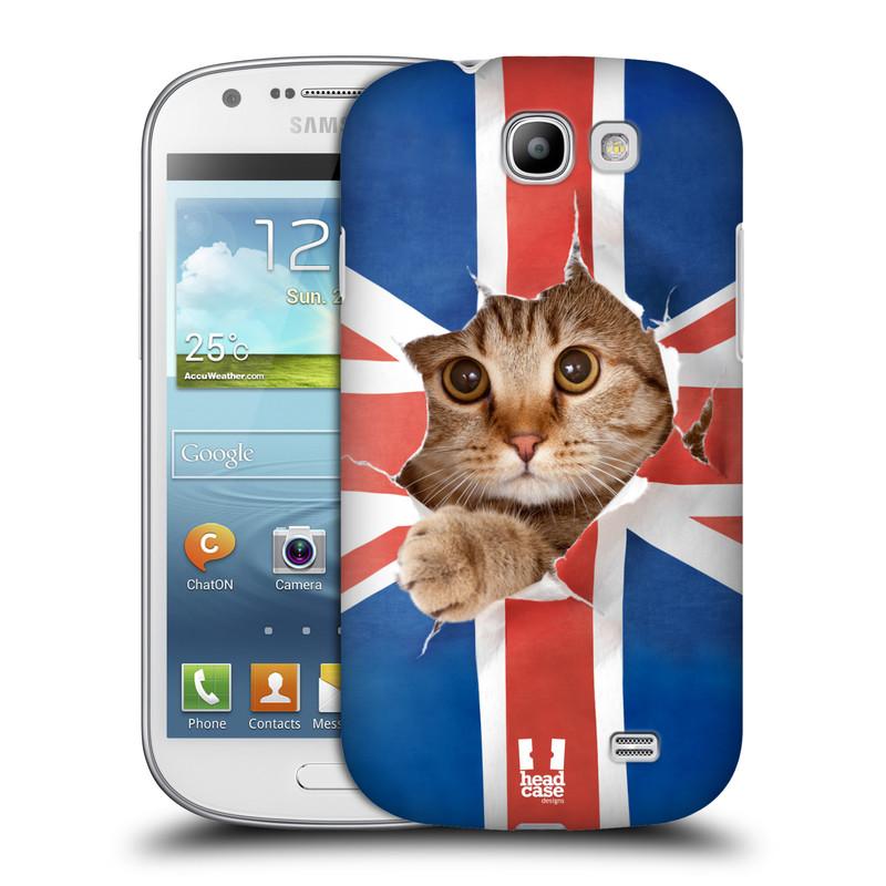 Plastové pouzdro na mobil Samsung Galaxy Express HEAD CASE KOČKA A VLAJKA (Kryt či obal na mobilní telefon Samsung Galaxy Express GT-i8730)