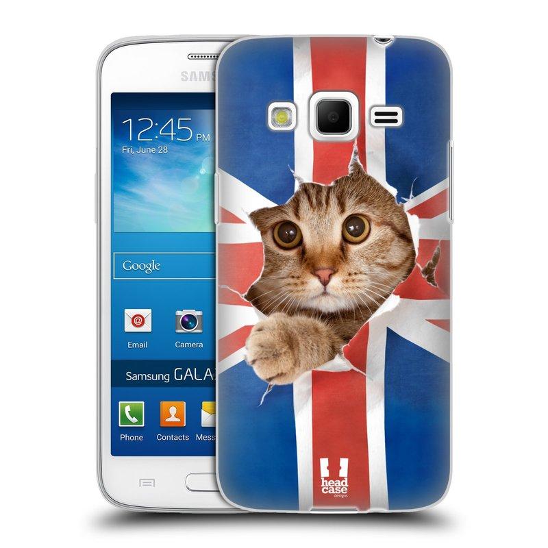 Silikonové pouzdro na mobil Samsung Galaxy Express 2 HEAD CASE KOČKA A VLAJKA (Silikonový kryt či obal na mobilní telefon Samsung Galaxy Express 2 SM-G3815)