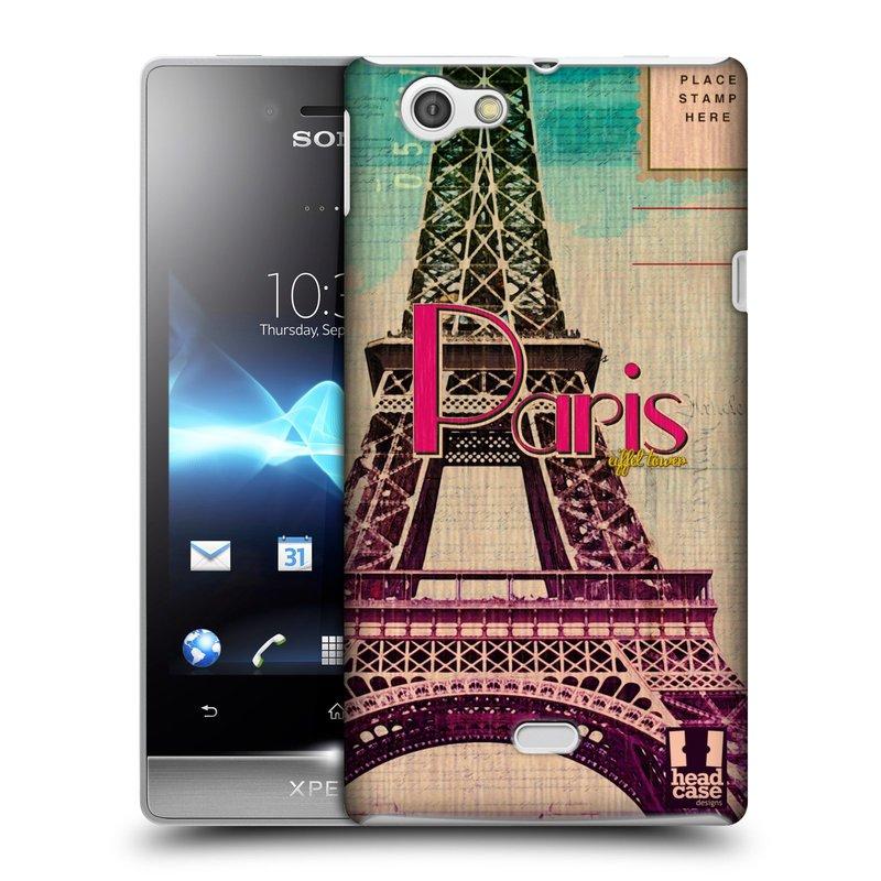 Plastové pouzdro na mobil Sony Xperia Miro ST23i HEAD CASE PARIS VINTAGE (Kryt či obal na mobilní telefon Sony Xperia Miro )