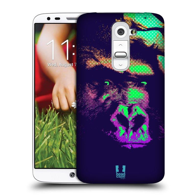Plastové pouzdro na mobil LG G2 HEAD CASE POP PRINT GORILA (Kryt či obal na mobilní telefon LG G2 D802)