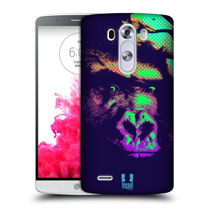 Plastové pouzdro na mobil LG G3 HEAD CASE POP PRINT GORILA (Kryt či obal na mobilní telefon LG G3 D855)