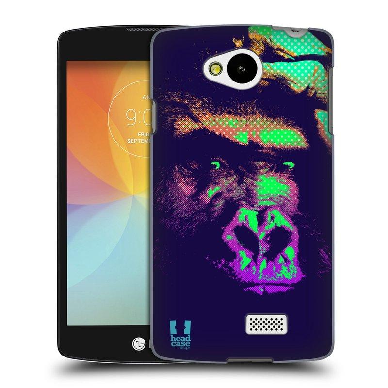 Plastové pouzdro na mobil LG F60 HEAD CASE POP PRINT GORILA (Kryt či obal na mobilní telefon LG F60 D390n)