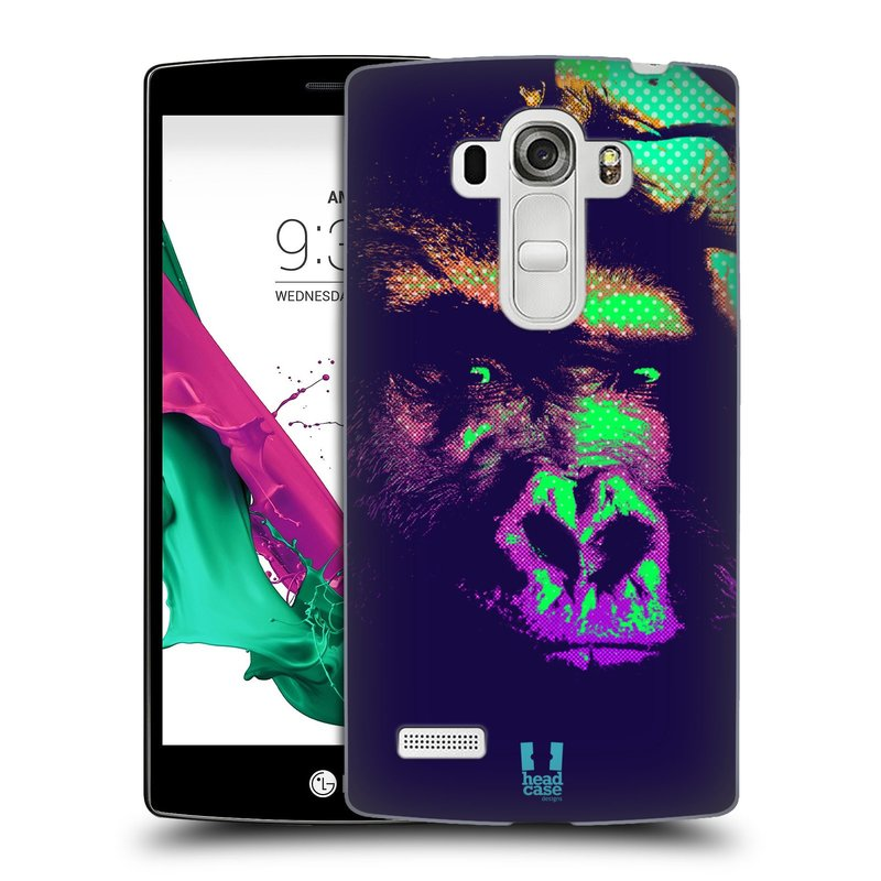Plastové pouzdro na mobil LG G4s HEAD CASE POP PRINT GORILA (Kryt či obal na mobilní telefon LG G4s H735n)