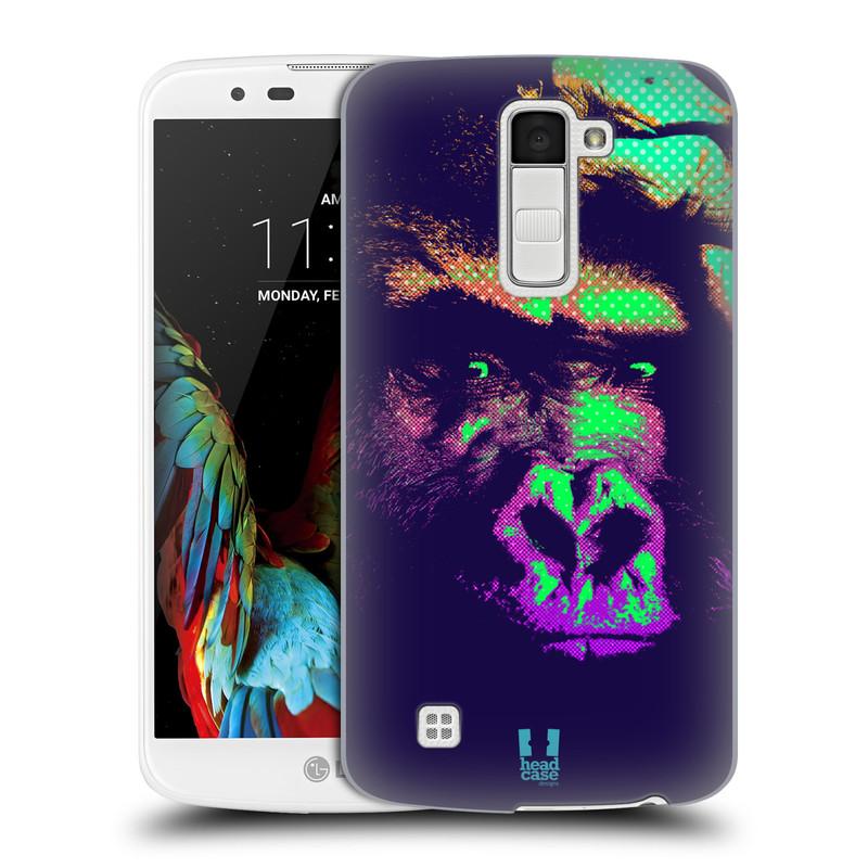 Plastové pouzdro na mobil LG K10 HEAD CASE POP PRINT GORILA (Kryt či obal na mobilní telefon LG K10)
