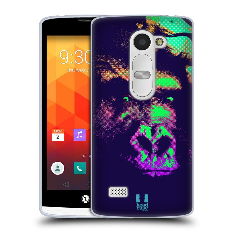 Silikonové pouzdro na mobil LG Leon LTE HEAD CASE POP PRINT GORILA (Silikonový kryt či obal na mobilní telefon LG Leon H320 a LG Leon LTE H340N)