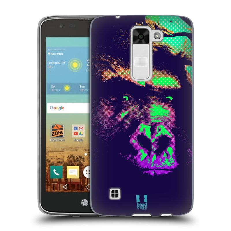 Silikonové pouzdro na mobil LG K7 HEAD CASE POP PRINT GORILA (Silikonový kryt či obal na mobilní telefon LG K7)
