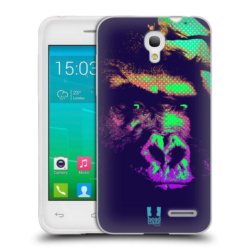 Silikonové pouzdro na mobil Alcatel One Touch Pop S3 HEAD CASE POP PRINT GORILA (Silikonový kryt či obal na mobilní telefon Alcatel OT- 5050Y POP S3)