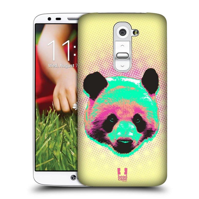 Plastové pouzdro na mobil LG G2 HEAD CASE POP PRINT PANDA (Kryt či obal na mobilní telefon LG G2 D802)
