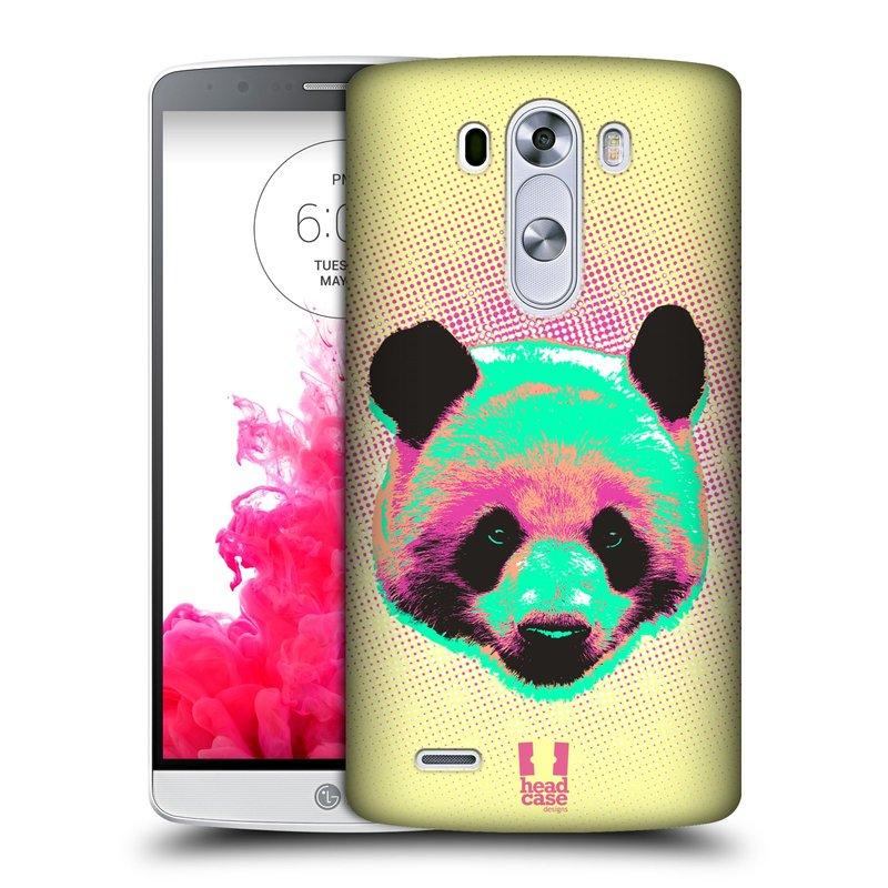Plastové pouzdro na mobil LG G3 HEAD CASE POP PRINT PANDA (Kryt či obal na mobilní telefon LG G3 D855)
