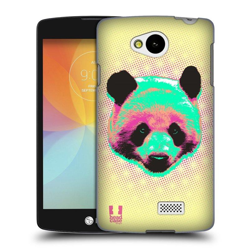 Plastové pouzdro na mobil LG F60 HEAD CASE POP PRINT PANDA (Kryt či obal na mobilní telefon LG F60 D390n)