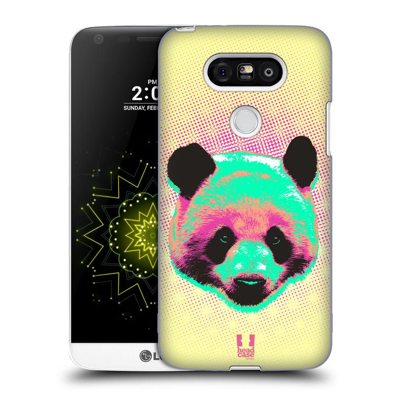 Plastové pouzdro na mobil LG G5 HEAD CASE POP PRINT PANDA (Kryt či obal na mobilní telefon LG G5 H850)