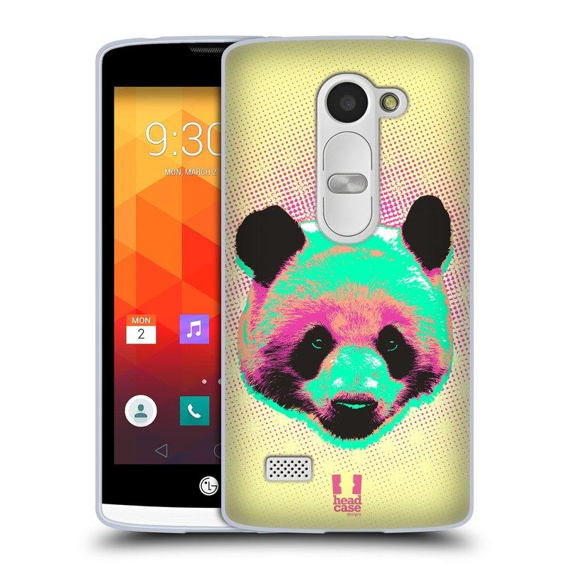 Silikonové pouzdro na mobil LG Leon LTE HEAD CASE POP PRINT PANDA (Silikonový kryt či obal na mobilní telefon LG Leon H320 a LG Leon LTE H340N)