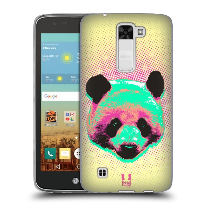 Silikonové pouzdro na mobil LG K7 HEAD CASE POP PRINT PANDA (Silikonový kryt či obal na mobilní telefon LG K7)